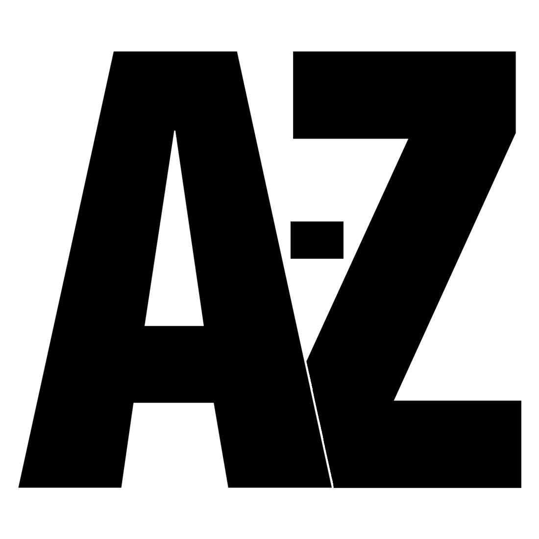 Alphabet printable a letters z Free Printable